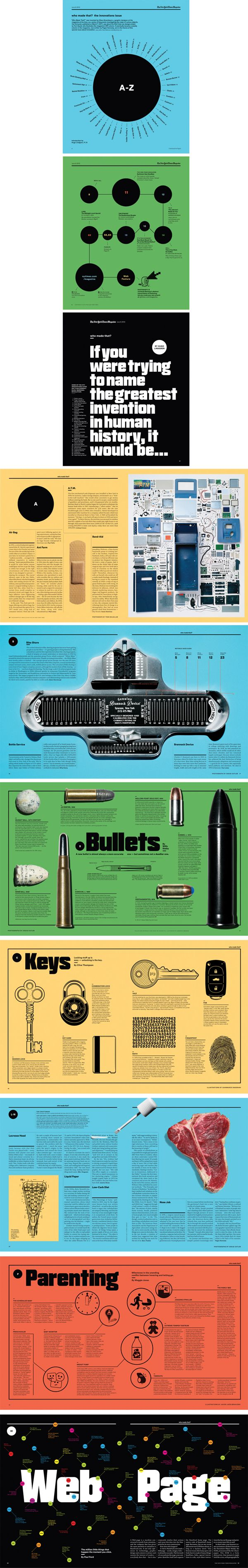 Who Made That Issue for The New York Times Magazine by Raul Aguila, via Behance