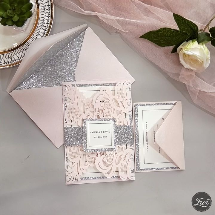 High 20 Most In style Pink Wedding ceremony Invites from EWI