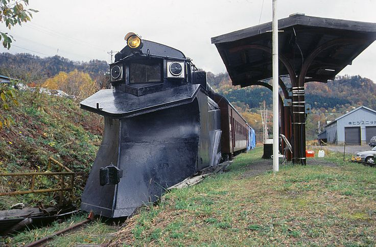 "a snow plow train called ""ki-1"" in Japan"