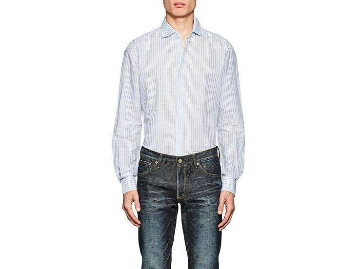 GLANSHIRT STRIPED LINEN-COTTON SHIRT. #glanshirt #cloth #