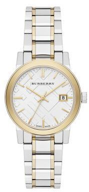 Burberry City Two-Tone Stainless Steel Bracelet Watch/34MM