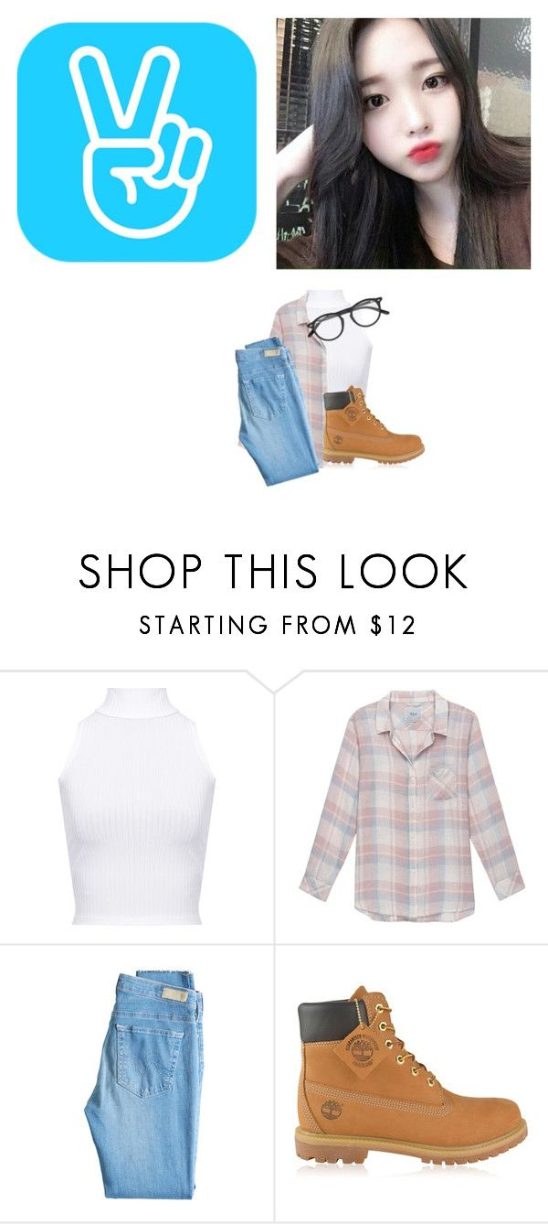 Chohee: Vlive by madummachado on Polyvore featuring moda, Rails, WearAll, AG Adriano Goldschmied, Timberland and polyvorefashion