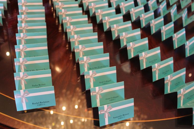 Tiffany blue place cards