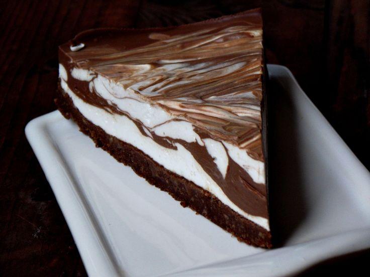 Reteta Cheesecake marmorat cu ciocolata - Prajituri