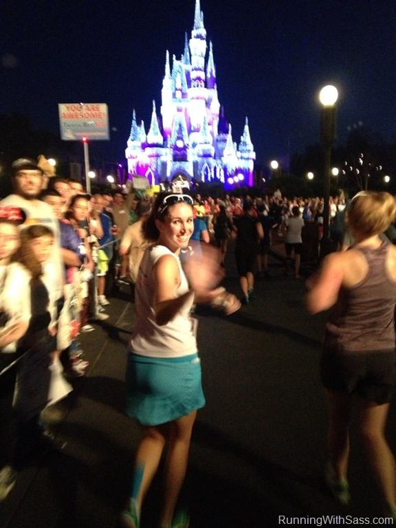 Running down Main Street towards Cinderella Castle! This is on my bucket list!!!