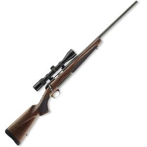 Browning X-bolt.  I have the 7mm-08, all black with a Leopold scope.  Now to see something...