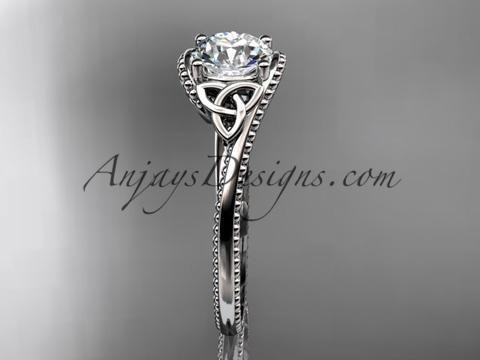 platinum celtic trinity knot wedding ring, engagement ring CT7322