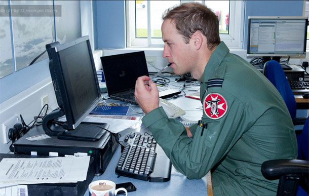New pictures showing a day in the life of Prince William as an RAF Search And Rescue helicopter pilot
