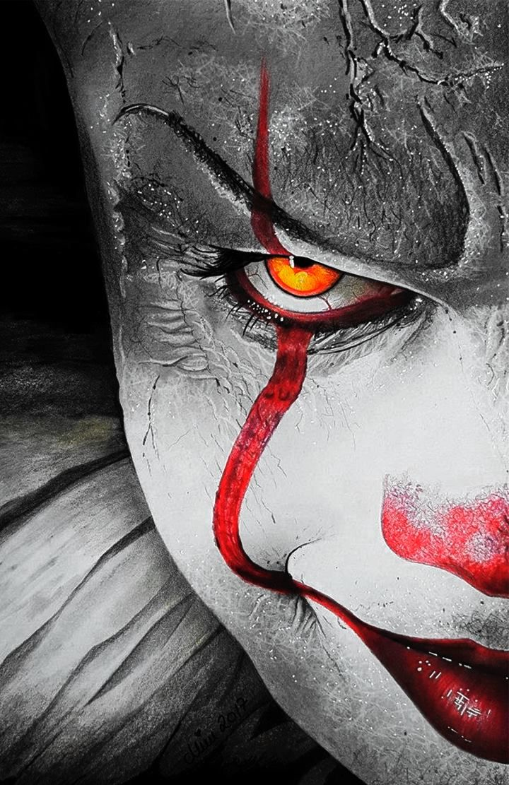 Pennywise Wallpaper For Mobile Phone Tablet Desktop Computer And Other Devices Hd And 4k Wallpapers Scary Wallpaper Scary Art Scary Drawings
