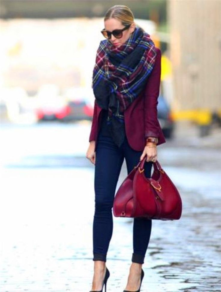 Amazon.com: BLOGGERS CHIC LARGE RED CAMEL NAVY GREEN PLAID CHECKED TARTAN SCARF WRAP SHAWL Z: Beauty