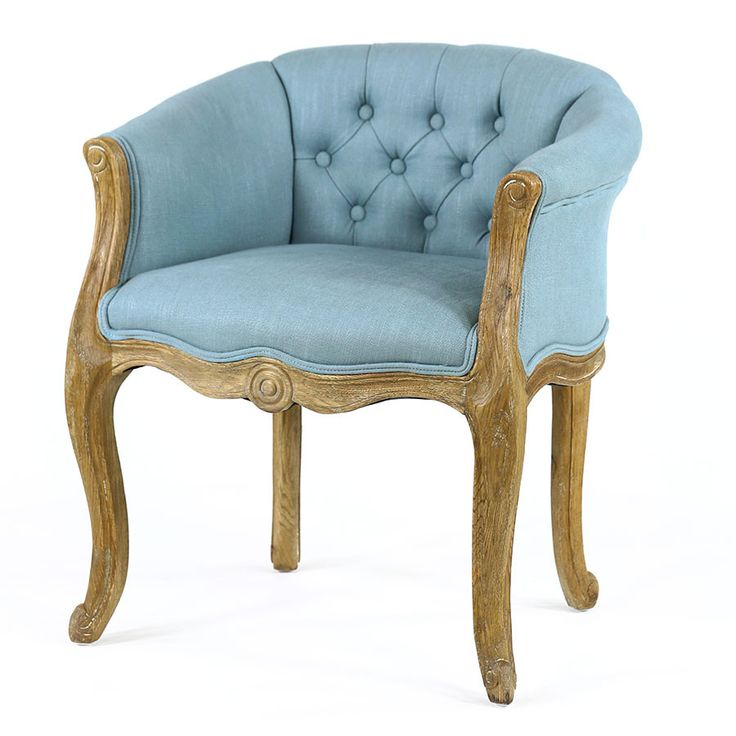 French provincial at its finest. The Cabriole Elizabeth Chair in Tealis the perfect statement piece for any traditional or transitional home. Intricately ca...