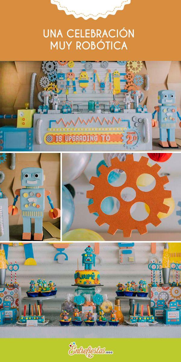 Los robots siempre han sido un motivo de inspiración para festejar el cumpleaños de cualquier niño; por lo que aquí se muestran algunos tips y recomendaciones para que realices una fiesta muy robótica con una decoración sutilmente atractiva.