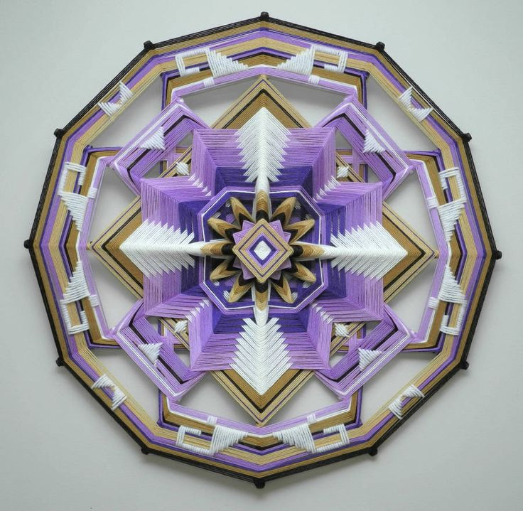 Spiritual Mandalas Made with Wool by Jay Mohler
