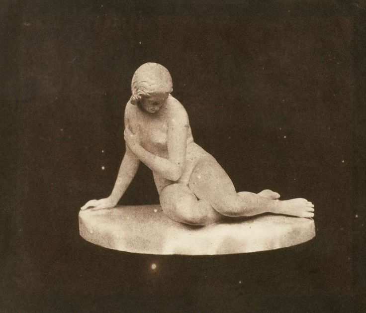 William Henry Fox Talbot - Statuette: Eve at the Fountain by E.H. Baily, c.1842.  … via the Nation Gallery of Canada