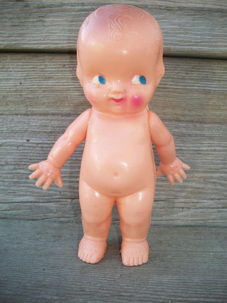 """Vintage Irwin Hard Plastic """"Kewpie"""" Baby Doll (Blue Eye"""