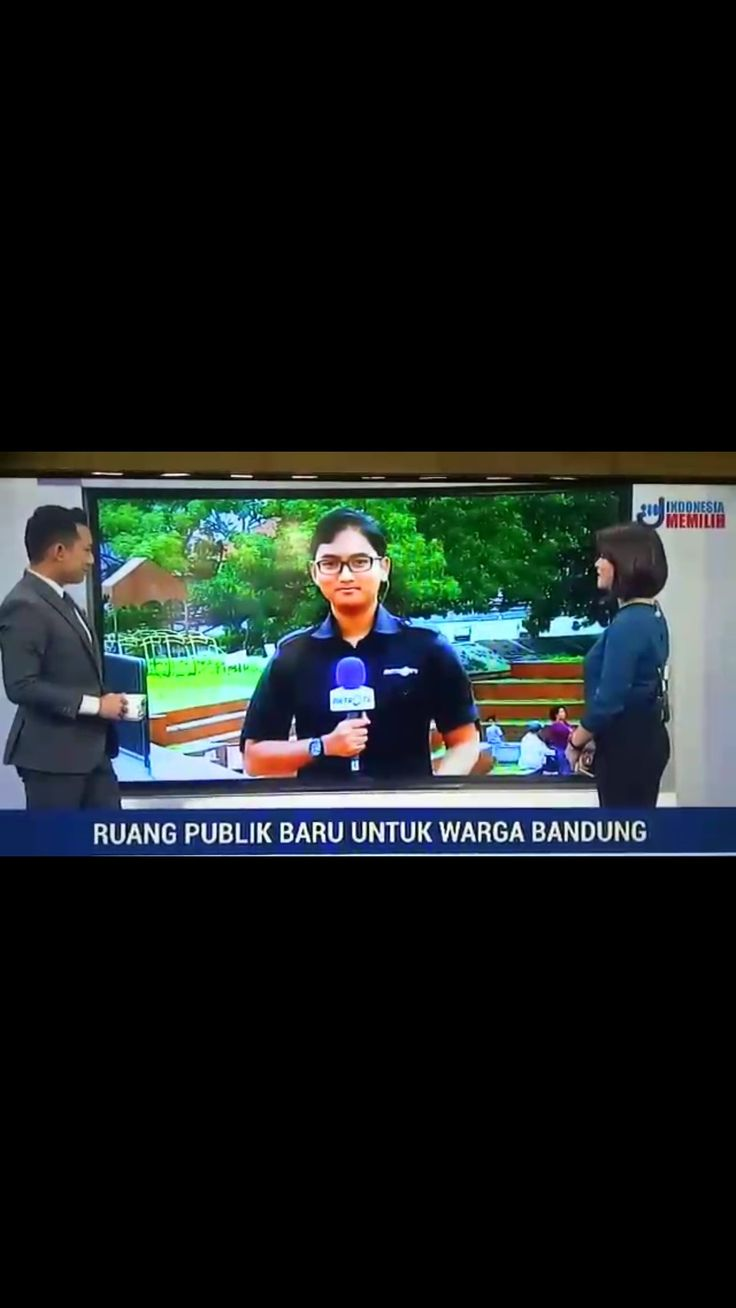 Live Report in Indonesian News Channel