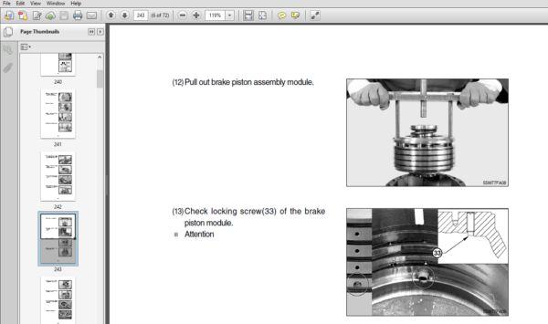 Hyundai R55w 7 Repair Service Manual Pdf Download In 2020 Hyundai Hydraulic Systems Manual