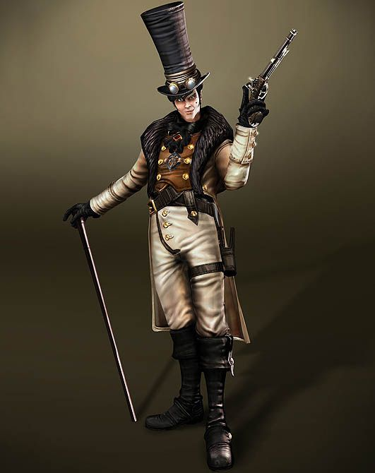 Reaver (voiced by Stephen Fry) from Fable III knows how to do evil with style