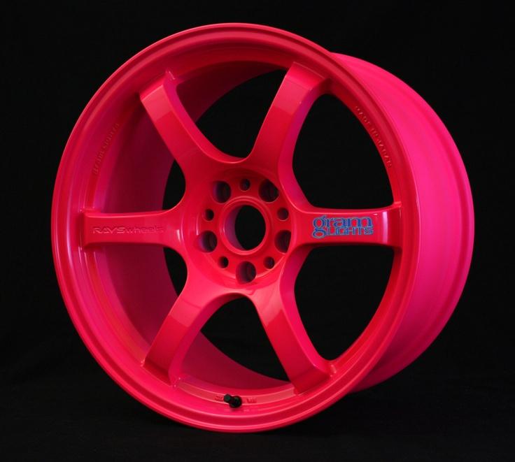 pink wheels!