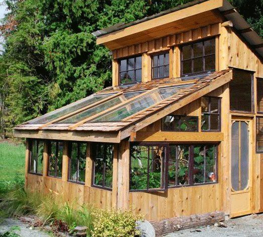 Greenhouse Made from Left Over Building Materials | Apartment Therapy