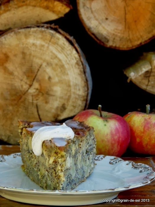 grain de sel - salzkorn: Apfel-Mohn-Kuchen mit Buttermilch