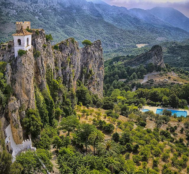 Guadalest, Spain.  A wonderful drive through the mountains to get to an amazing castle.