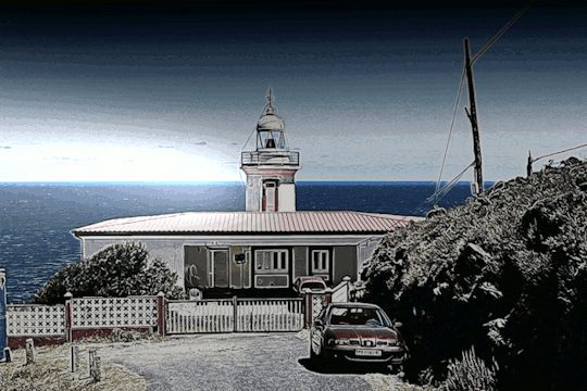Farol da Punta Candelera, Galiza, España.