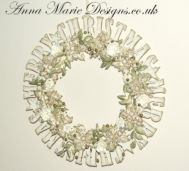 Merry Christmas Wreath - Large - Click Image to Close