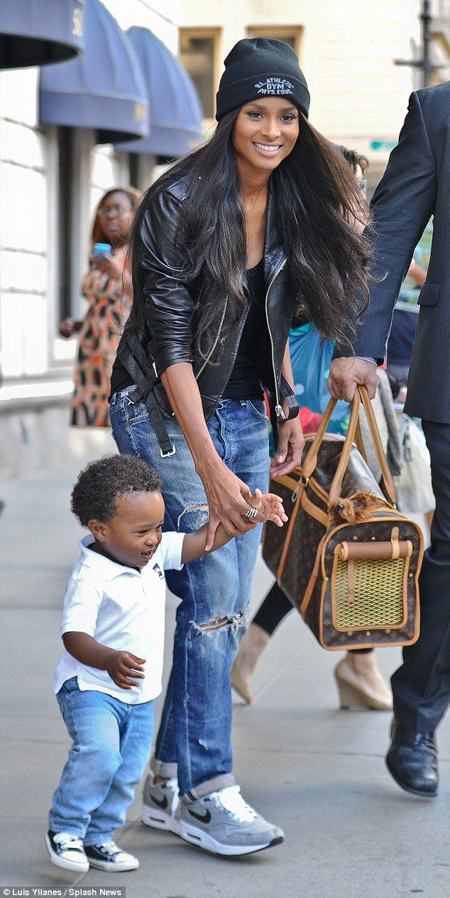 Family outing: Ciara and her son, Future Zahir Wilburn, were spotted in New York City on Wednesday