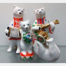 """Цирковые медведи. """"Дулево"""".,  Фарфоровые статуэтки:"""