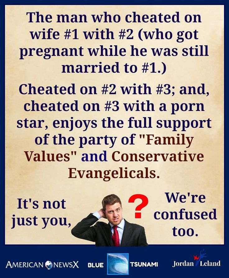 They can never claim the moral high ground ever again. Evangelicals are asshole hypocrites.