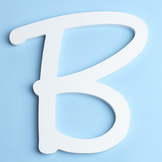 White Brush Font Wood Letter 'B'