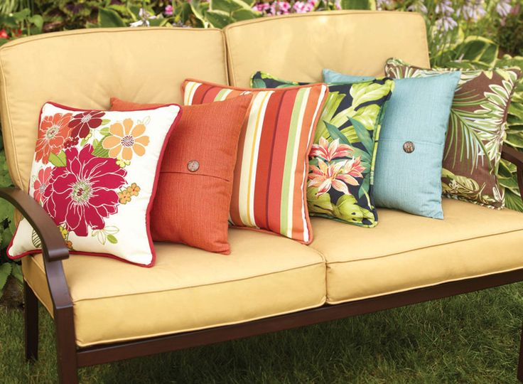 Delightful Mix U0026 Match Decorative Throw Pillows To Give Any Outdoor Furniture A Fresh  New Look.