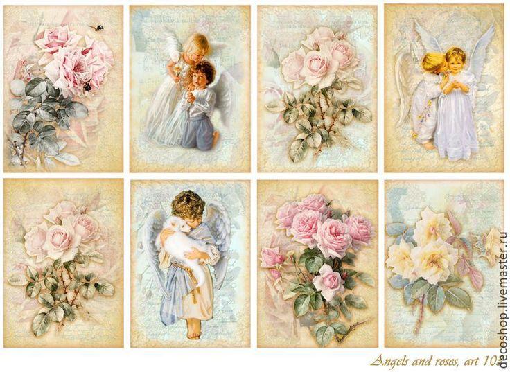 картинки с ангелами для декупажа для печати на принтере салате можно