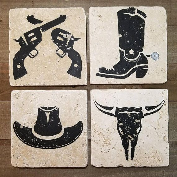 Country Western Coasters! Great gift for anyone who loves country!