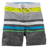 Colourful engineered stripes and a contrast waistband make this pair perfect for sunny days at the pool. Add matching flip flops to complete the look!