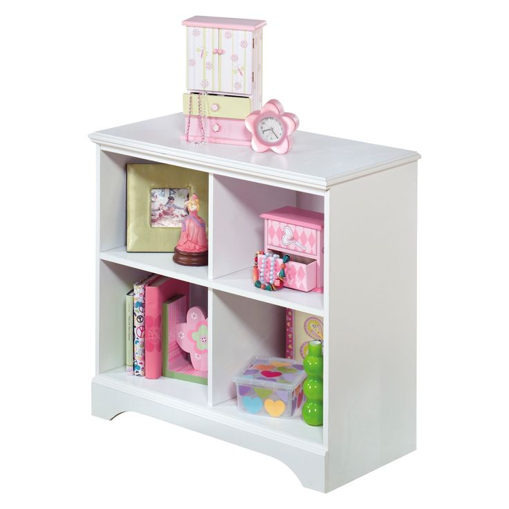 The clean lines and crisp finish of the Lulu loft bin storage unit complement virtually every style of decor. Whether their new favorite color is pink, purple or blue, this bedroom furniture will be a mainstay. Four open cubbies keep her treasured keepsakes safe yet well within reach.  Signature Design by Ashley is a registered trademark of Ashley Furniture Industries, Inc.