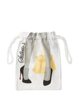 72% OFF Aviva Stanoff Stilettos Laundry Bag, White/Black