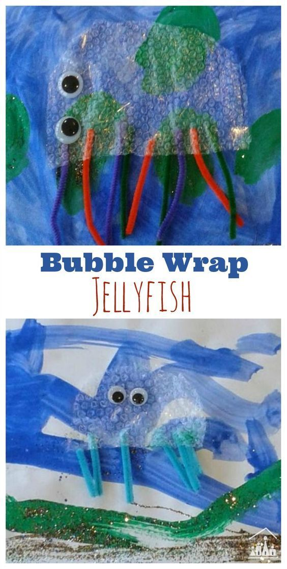 Are you looking for a new craft project that ALL of your kids can enjoy doing together? Gather your left over bubble wrap and grab some googly eyes and set them the task of creating their own Bubble wrap Jellyfish craft.