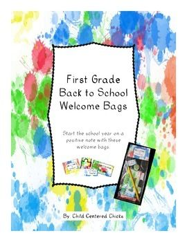 Surprise your students with this cute bag of goodies on their first day of school!Each bag includes a Welcome label, a pencil with a pencil topper, book mark, Smarties candy and a puzzle piece.The puzzle piece is used for a Back to School Activity.A welcome letter is included in this packet which can be sent home before the first day of school.