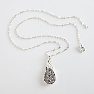 Click to view larger image of Irish Celtic Knot Druzy Necklace