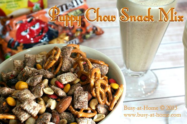Puppy Chow Snack Mix recipe #shop