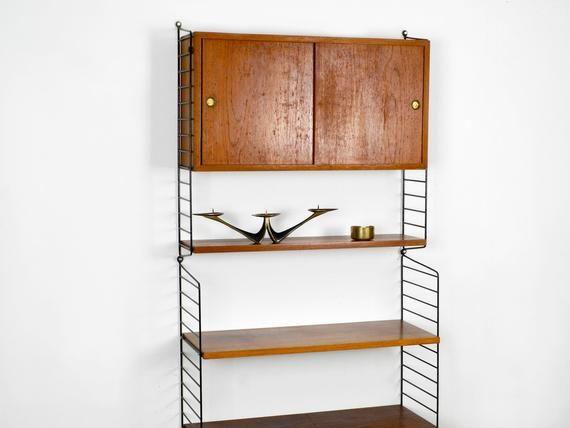 Original 60er Nisse Strinning Stringregal Mit Schranken Aus Teakholz Mit 20 Und 30 Cm Tiefe Interior Interior Design Home Decor