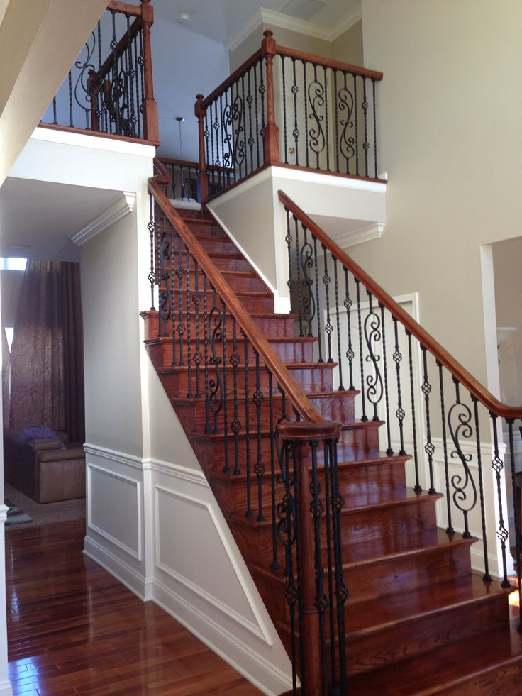 Best Wrought Iron Black Satin Iron Balusters Twist And Double 400 x 300