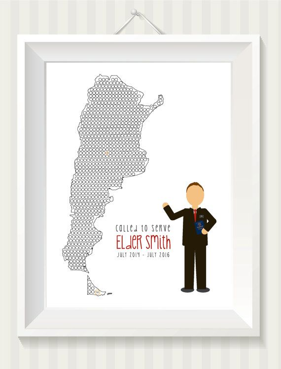 Missionary Countdown Elder Print by simpdesigned on Etsy