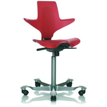 #vendo  sedia da ufficio ergonomica Hag Capisco Plus rossa .  nuova