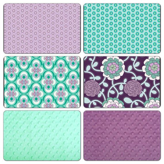 purple and teal baby bedding 3