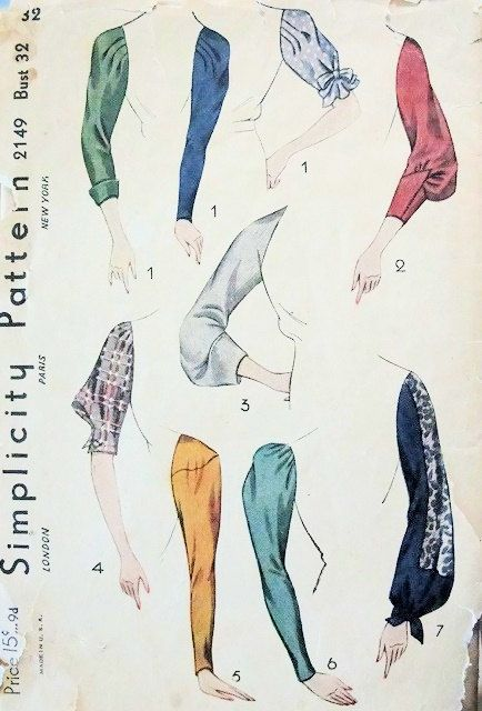 1930s Simplicity sleeve patterns