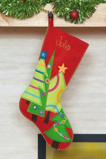 1000  ideas about felt christmas stockings on pinterest ...