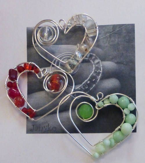 Bead & Wire hearts